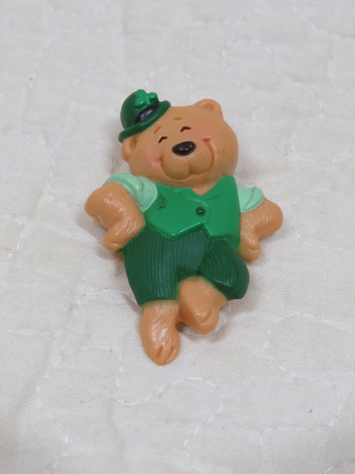 Hallmark Bear Brooch St Patty's day Vintage