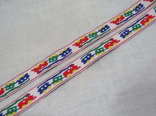 Train Ribbon 3 yards vintage nos