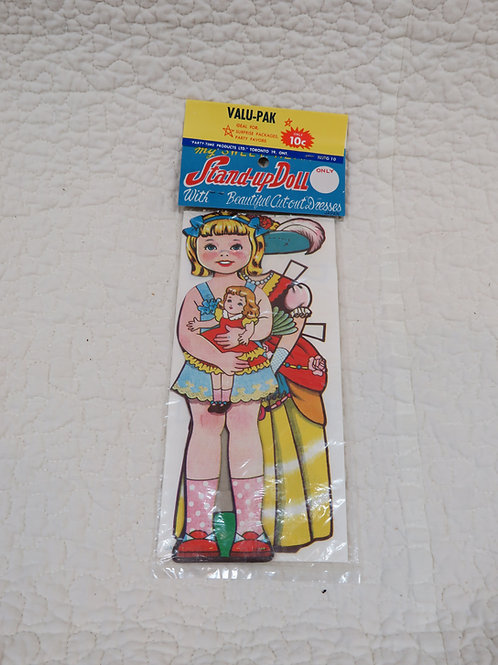 NOS Paper Doll with clothing vintage