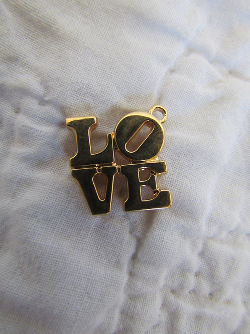 Love Jewelry Charm or Pendant Vintage 1980s