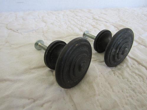 2 Pulls or Knobs metal vintage