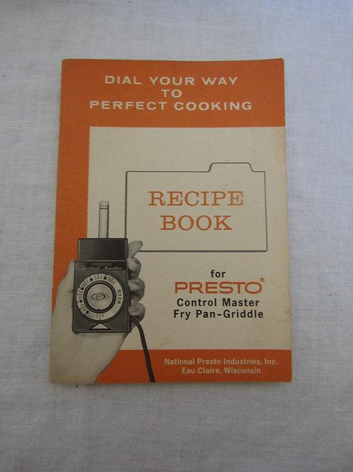 1971 Presto Recipe Book for Control Master Fry Pan