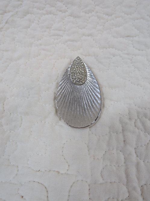 Teardrop Pendant with Rhinestones Vintage
