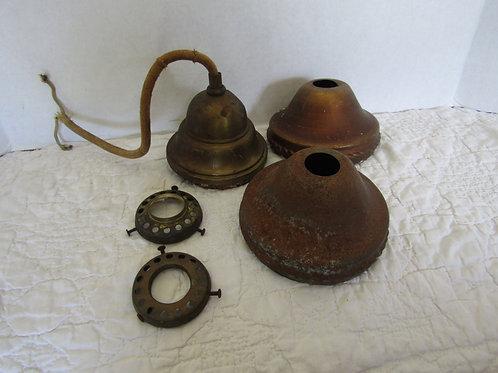 5 Salvage Light parts Vintage