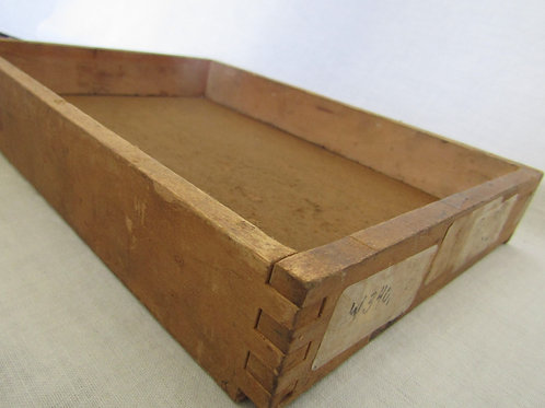 Wood box tray Vintage