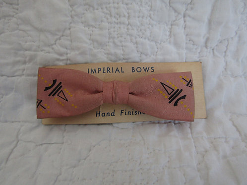 NOS Imperial Bow Tie Hand Finished on card