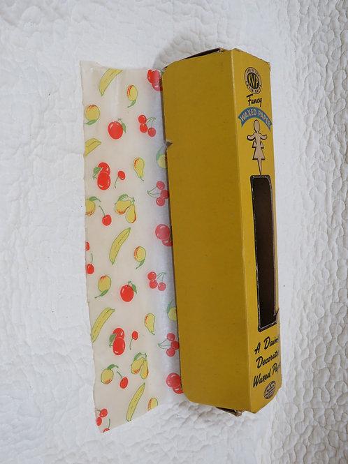 Fancy Waxed Paper cherries Bananas Vintage