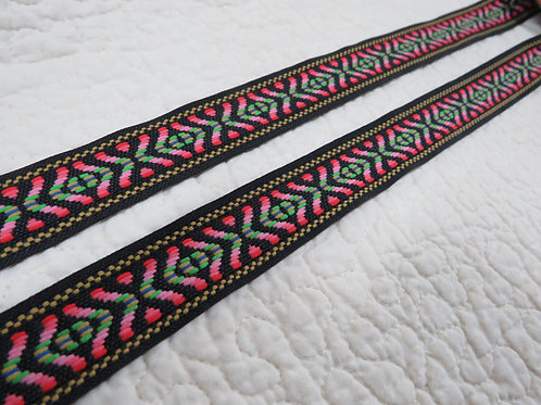 "Fabric Trim Ribbon 1"" x 6 yards vintage"