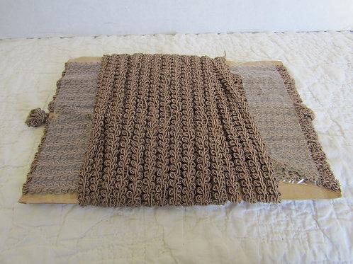 Vintage Upholstery Trim 30 feet Brown