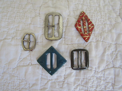 5 Metal Buckles Vintage lot