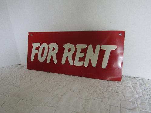 Metal For Rent Sign Vintage
