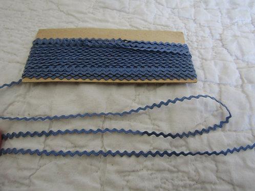 6 yards narrow Vintage Blue Rick Rack Sewing Craft