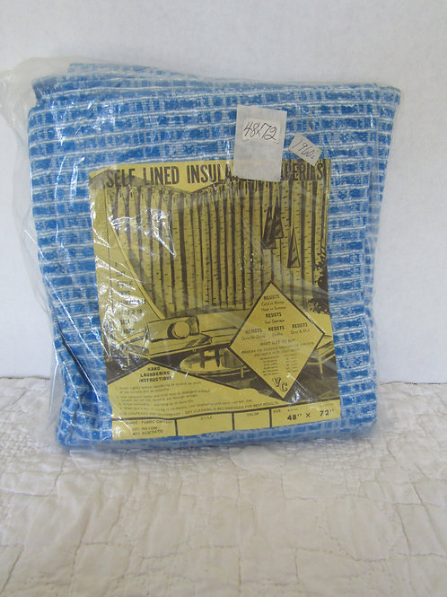 """Mid Century NOS Self Insulated Pinch Pleat Drapes 48"""" x 72"""""""