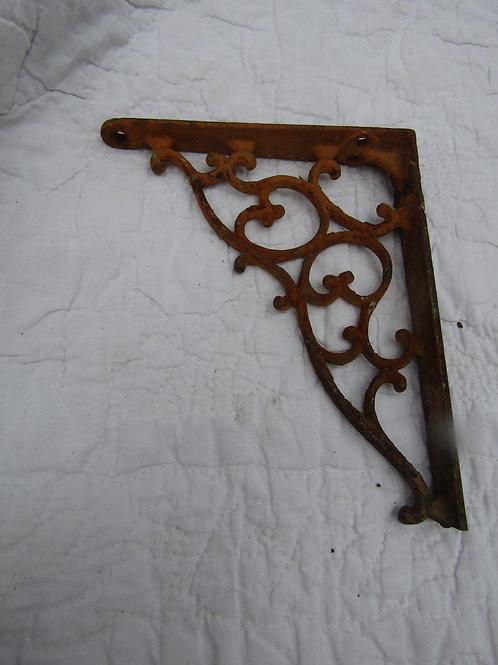 Vintage Rusty Cast Iron Bracket not perfect