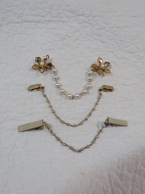 3 Sweater Clips guards Vintage lot