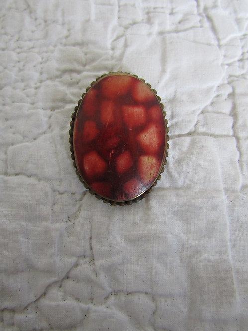 Vintage Pendant Brass Backing