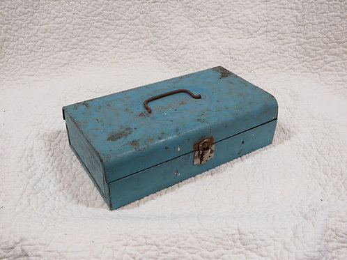 Bernzomatic Tool Box Blue Vintage metal