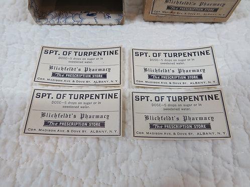 30 Pharmacy Labels Vintage Paper