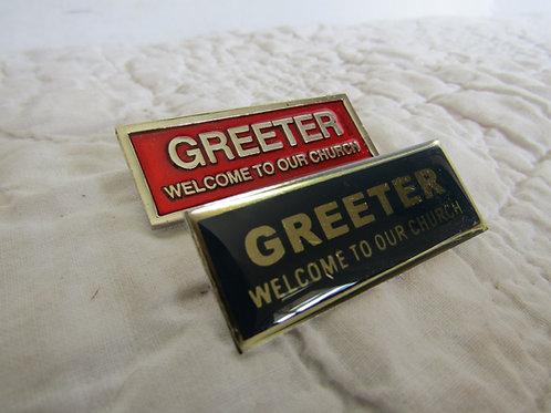 2 Church Greeter Pins NOS