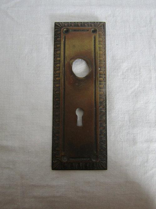 Door Plate Brass Vintage Salvage Item