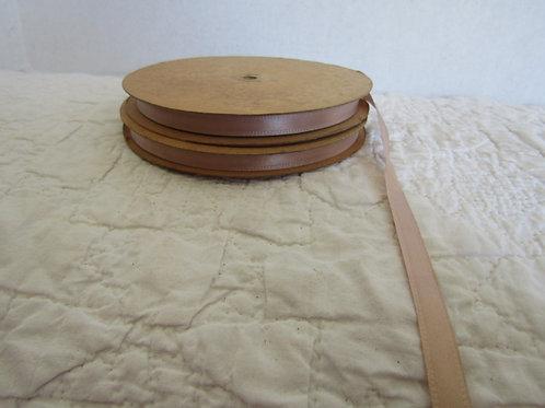 2 full rolls of tan craft ribbon vintage item