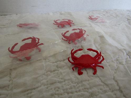 6 Metal Crab pins nos