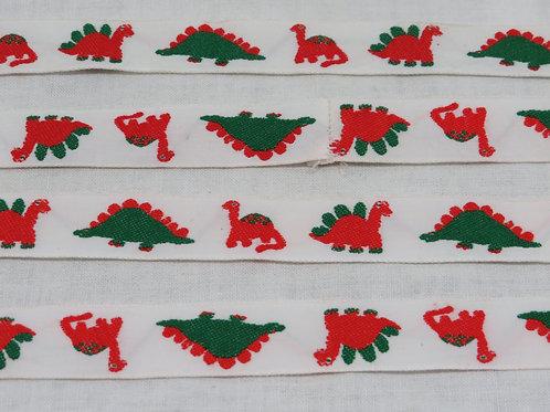 """Dinosaur Cloth Ribbon 4 1/2 yards x 7/8"""" Vintage"""