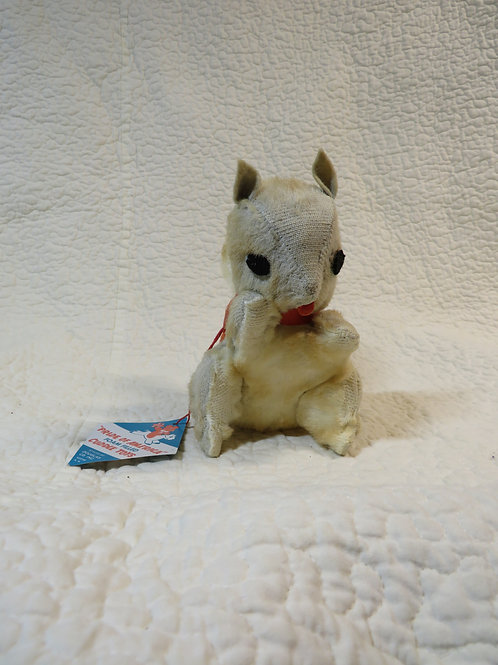 Squirrel Stuffed Toy nos tags vintage