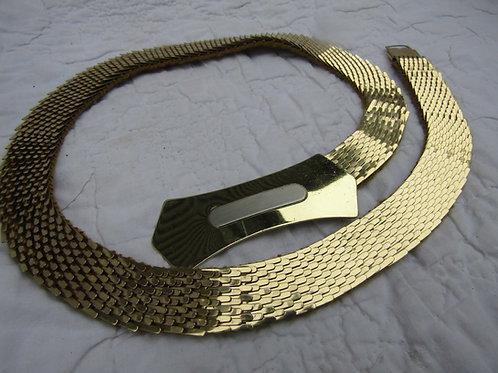 Vintage Fish Scale Belt with large Buckle