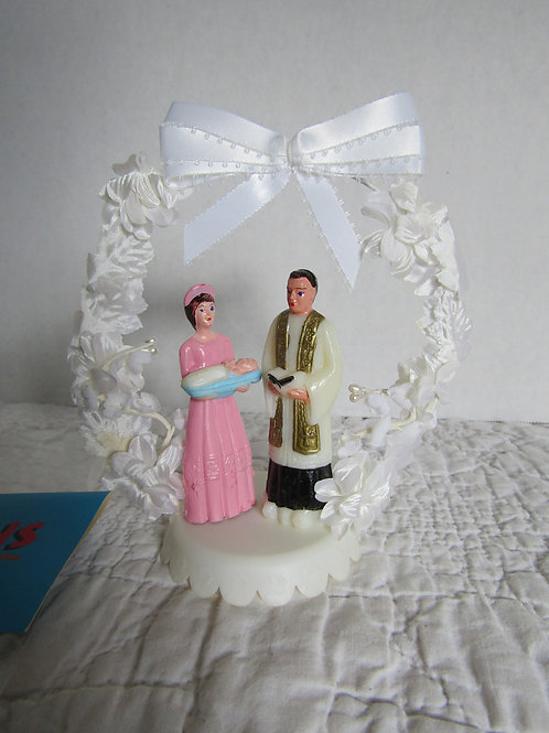 Baptism Cake Decoration Vintage NOS