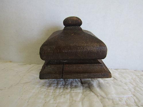 Wood Square Finial Antique Item