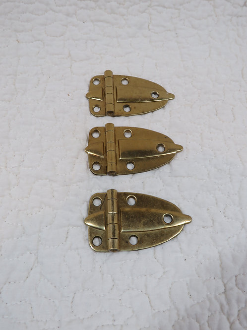 3 Brass Hinges Vintage Items