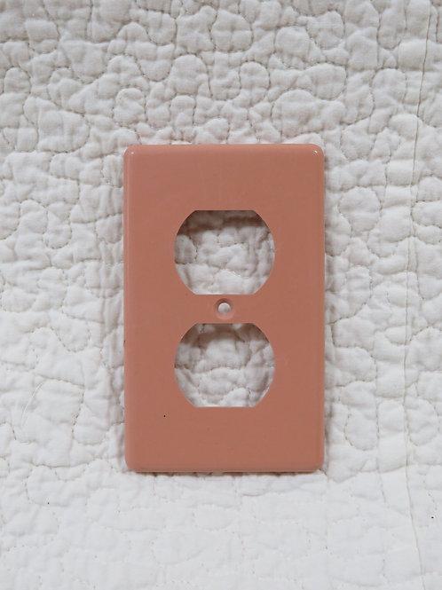 Pink Outlet Plate Plastic Vintage