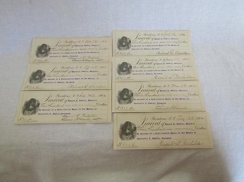 7 Antique Checks Providence RI