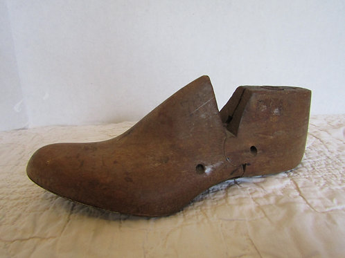 Shoe Form Wood Antique Item