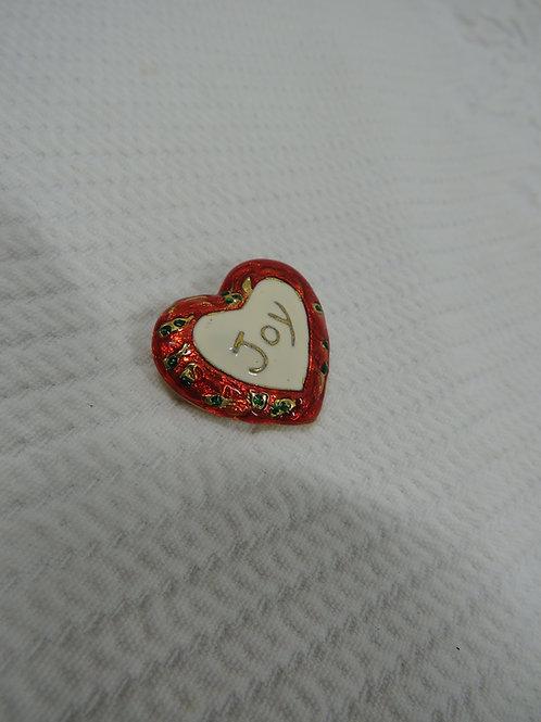 Joy Brooch holiday pin Vintage