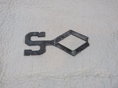 Salvaged Metal S from weathervane Vintage