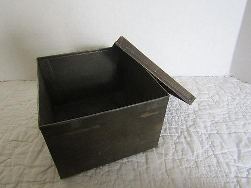 Vintage Metal Mill Storage Box