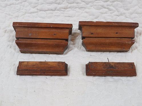 4 Wood moldings Detail Vintage Salvage