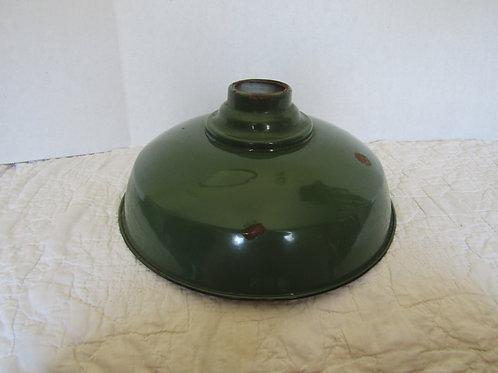 Vintage Porcelain Green Industrial Light Shade