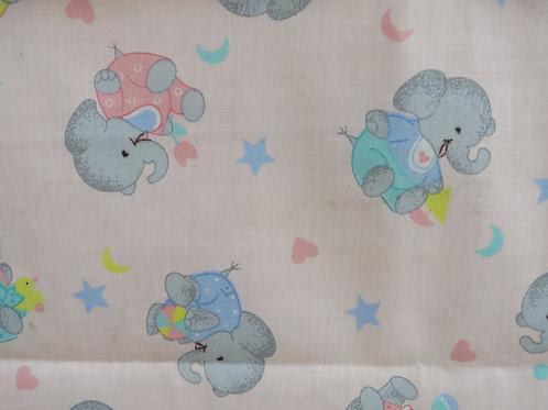 "Baby Elephant Fabric 1 yard x 45"""