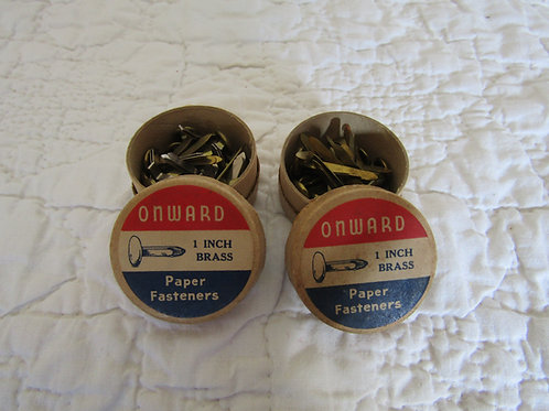 Brass Paper Fasteners 1 Inch in original Boxes total of 30