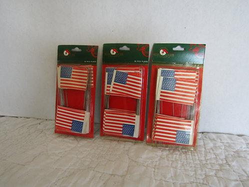 120 Plus Vintage American Flag Decorations Paper Flag on metal post nos