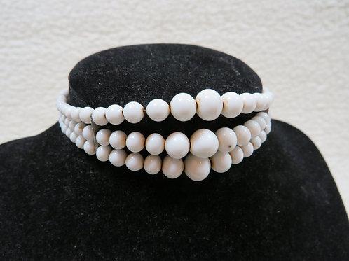Beaded Cuff Bracelet on wire Vintage