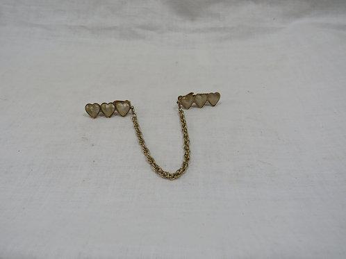 Sweater Clip / Guard mop hearts Vintage
