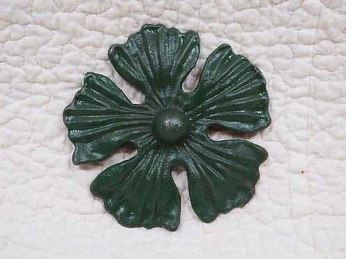 Green Cast Iron Flower Vintage