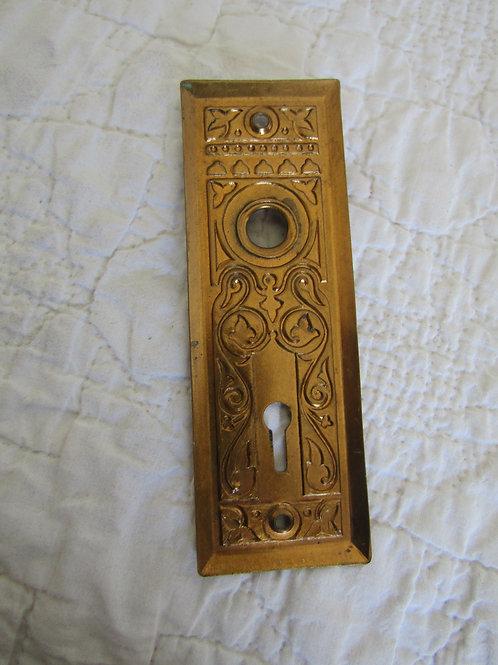 Brass Door Plate Vintage Item