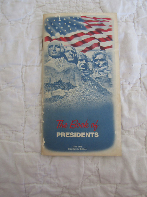 1976 The Book of Presidents Pocket Size book