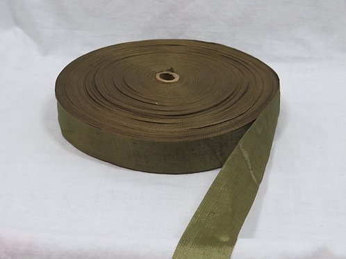"Ribbon Army Green 1 1/4"" FULL Roll Taffeta vintage item"