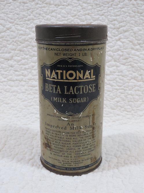 Tin Milk Sugar National Vintage